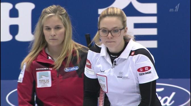カナダ対スイスの世界女子カーリング決勝