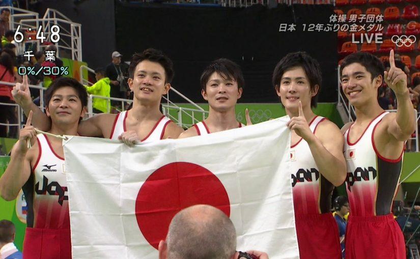 体操男子団体決勝で悲願の金メダル!