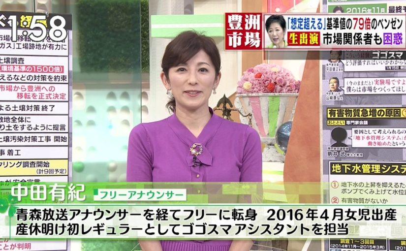 ゴゴスマアシスタントとして中田有紀が登場!