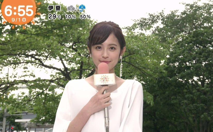 めざましテレビで天気を伝える久慈暁子