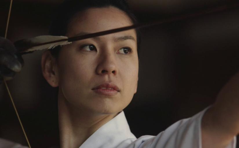萩本舞ちゃんが弓を引くCMをようやく捉えた